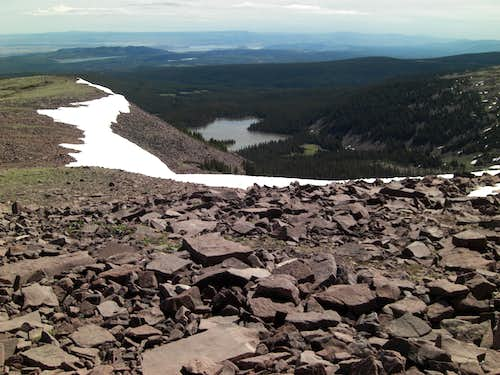 Daggett Lake from Daggett Ridge