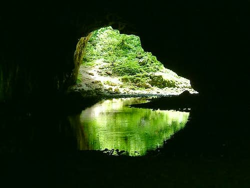 One of the many caves at...