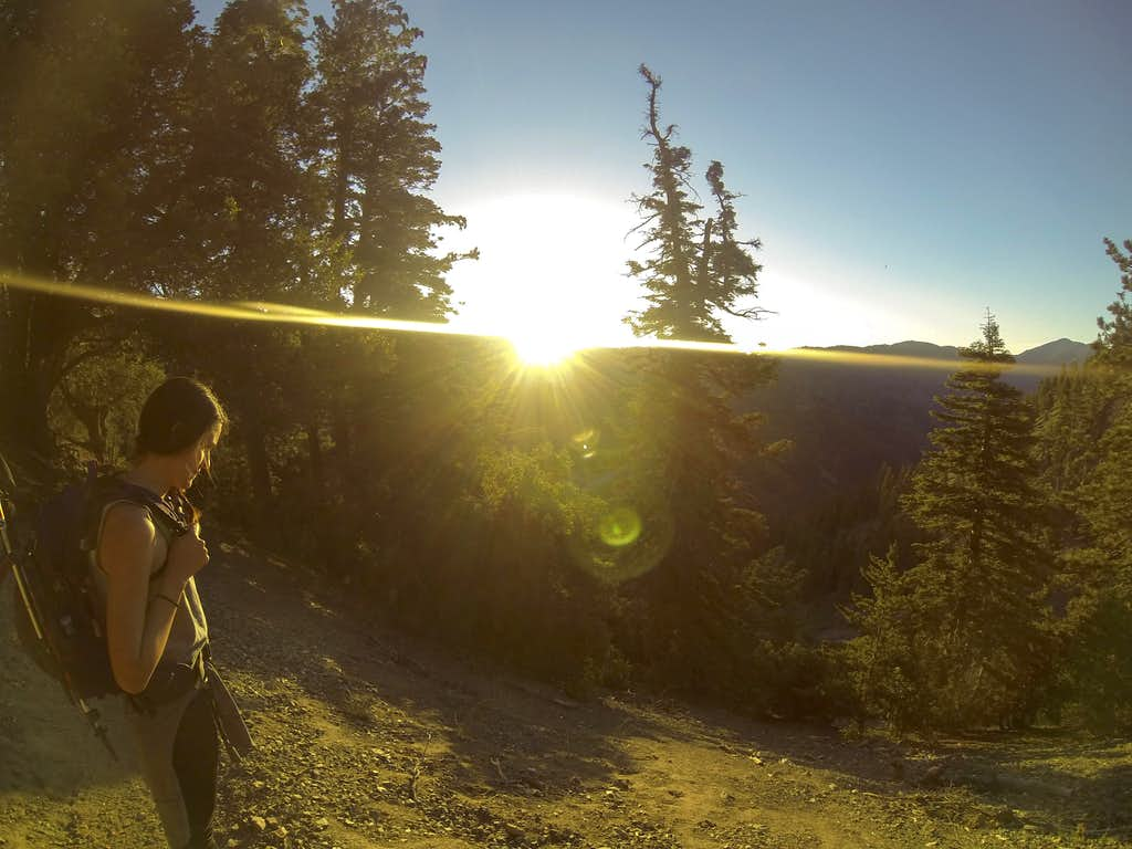 Sunrise on the way to Baden-Powell