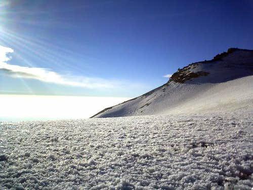 Crossing Ayoloco Glacier...
