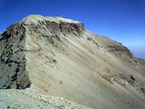 Last meters to the summit,...