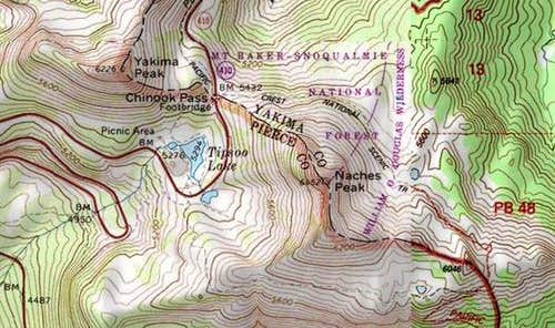 Naches Peak Map
