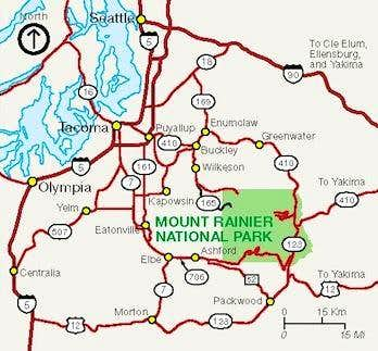 Rainier Entrance Map