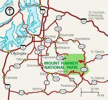 Rainier Entrance Map