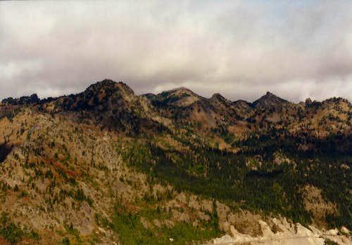 Northwest toward Sheep Lake from Naches Peak