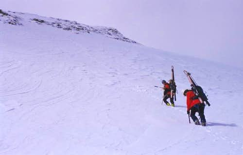 climbing Johannisberg NE Face...