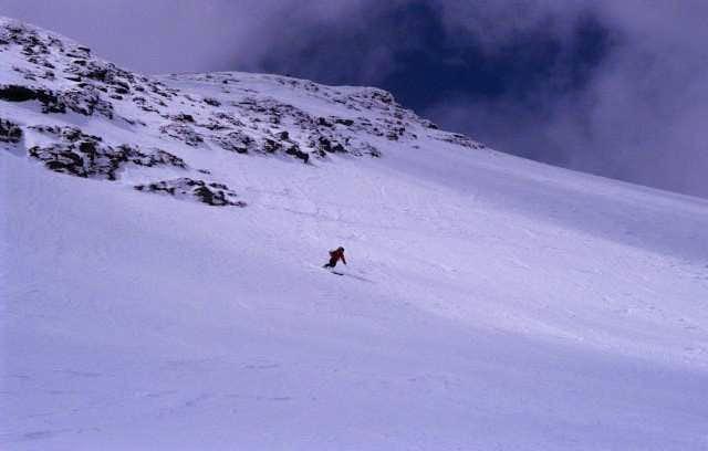 skiing down Johannisberg...
