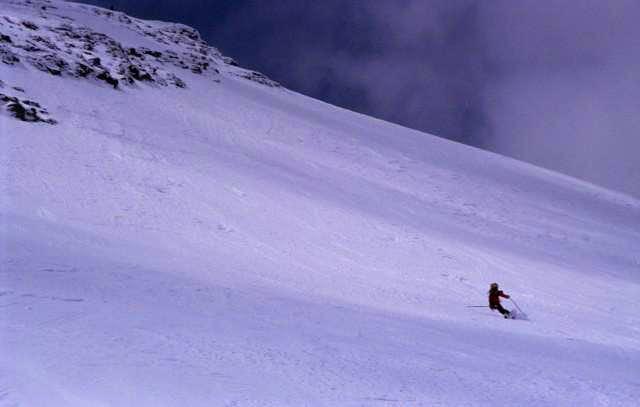 skiing Johannisberg NE-Face