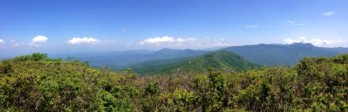 Craggy Dome Summit Panorama