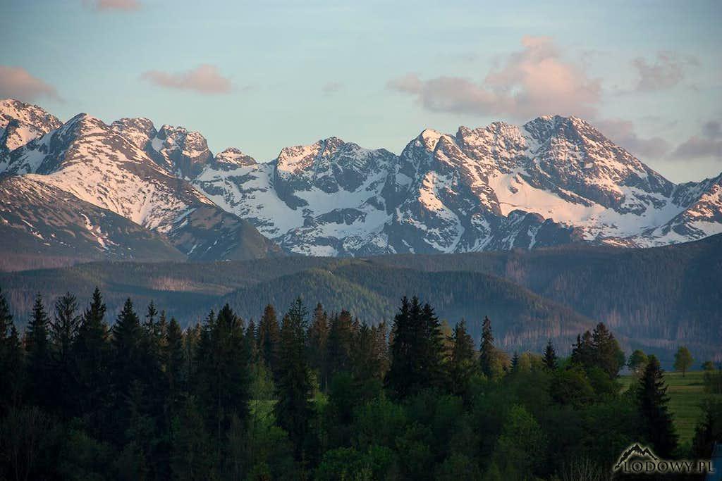 High Tatras from Poronin