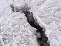 a crevasse in the jamapa...