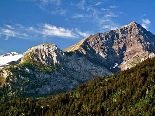 Spitzhorn (2806 m) seen from Lauenen