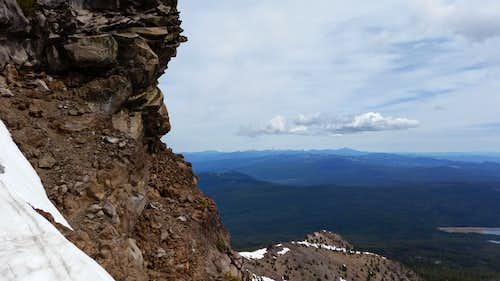 Looking northeast from the ridgeline