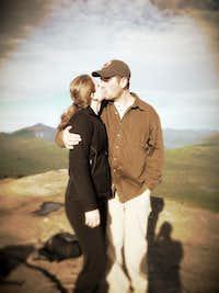 Mountaintop kiss