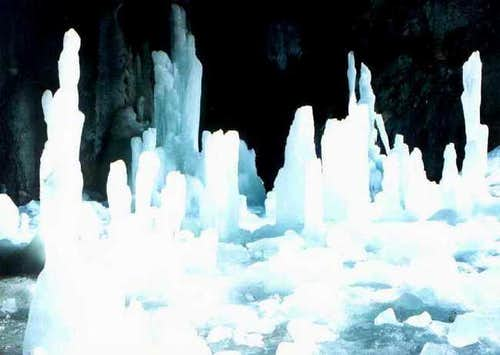 Icy cave in the heart of the...