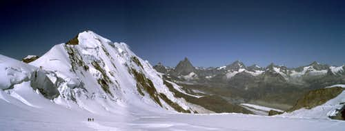 View of Lyskamm and Obergabelhorn