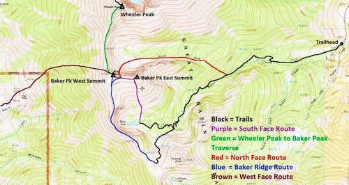 Baker Peak Climbing Hiking Mountaineering SummitPost - Us map baker peak
