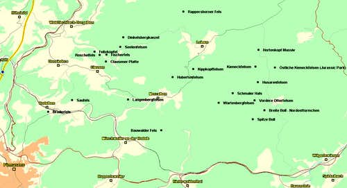 Map of the Merzalben / Leimen...