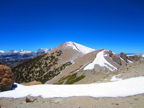San Joaquin Summit as seen from Two Teats Saddle