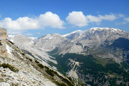 Mt. Acquaviva, Mt. Sant'Angelo and Cima dell'Altare (from right to left)