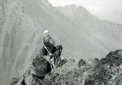 M. Fallère Integrally on the long Northeast Ridge 1974