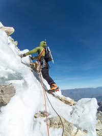 Trying to find a way to the ridge proper.