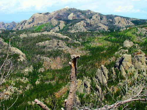 Black Elk Peak from Sylvan Peak