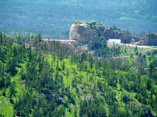 Crazy Horse from Sylvan Peak Summit