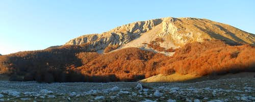Mt. Pollino (north face at sunrise)