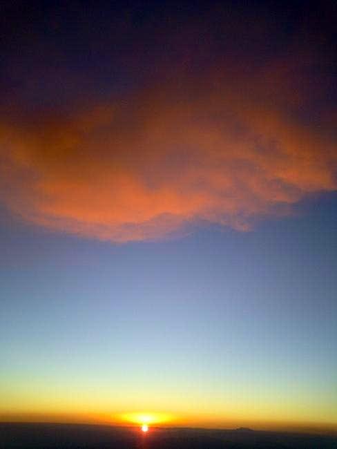 The exactly sacred sunset...