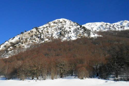 Mt. Pollino (west face from Piano Gaudolin)