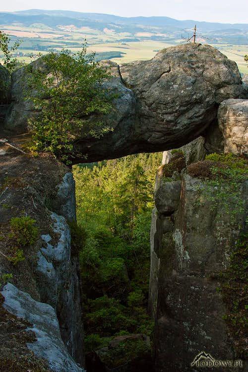 Rock bridge on Szczeliniec