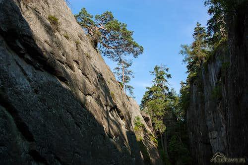 Piekielko cliffs