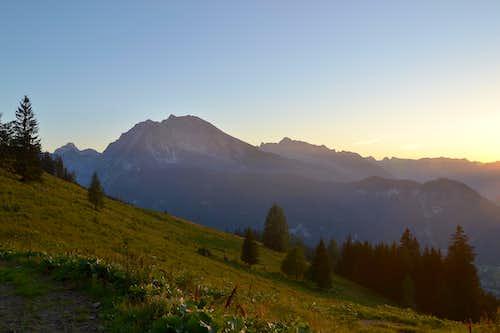 Evening in the Berchtesgaden Alps