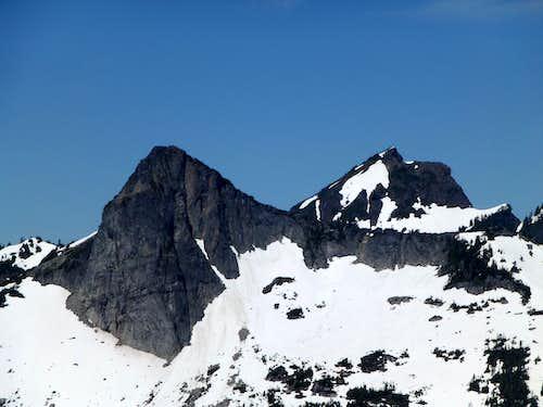 Salish Peak and Mount Bullon from Ulalach Peak