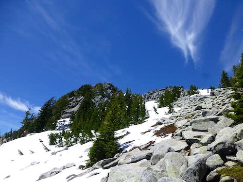 Final scramble on Ulalach Peak