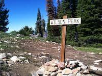 Wilson Peak sign