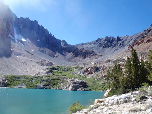 The route to Split Mountain