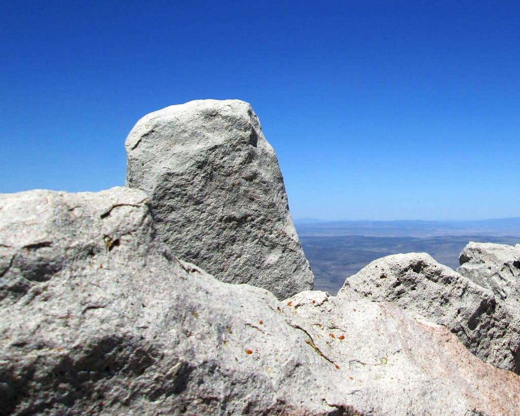The summit rock