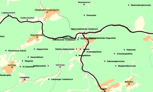 Map of the Hinterweidenthal...