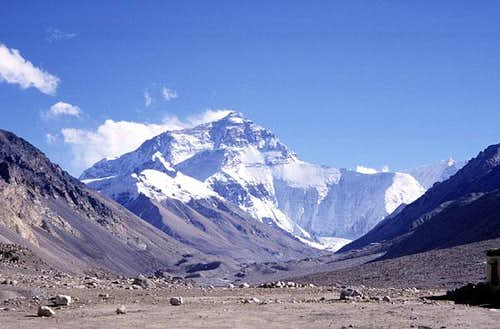 Mount Everest from the north