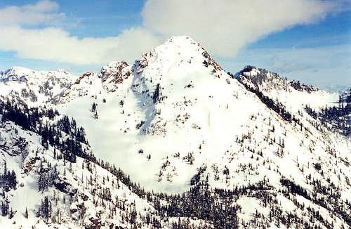 Red Mountain in winter as...