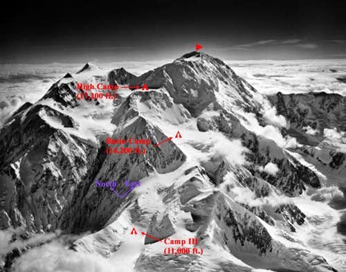 West Buttress Camps 3, 4, & 5