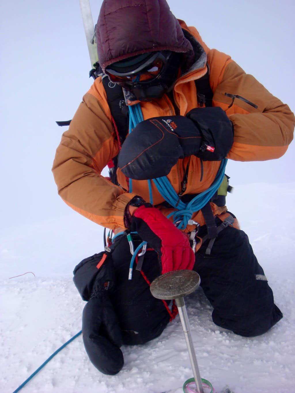 Calvin at 20,320 ft.