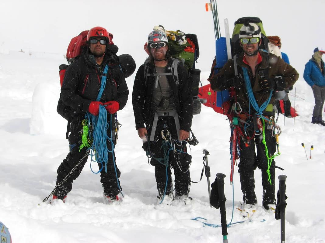 Kicking Buttress Team Return to 14K after Summiting