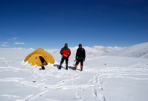 Me and Tergaiz, just before the start of the summit attempt