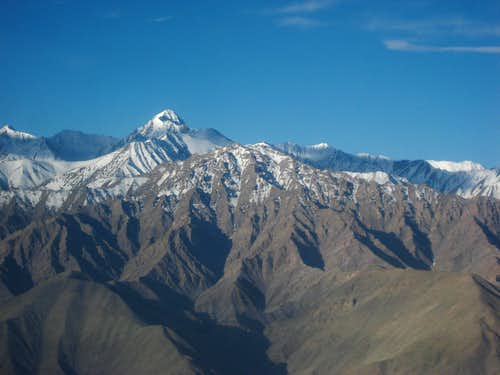 Stok Kangri from Airplane
