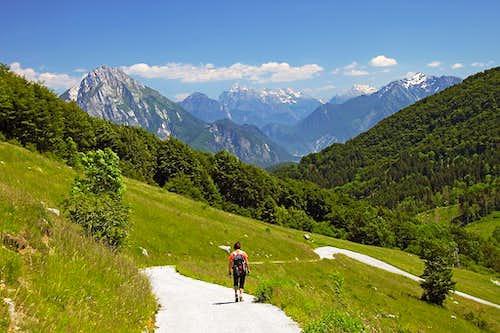 Descending from Monte Verzegnis