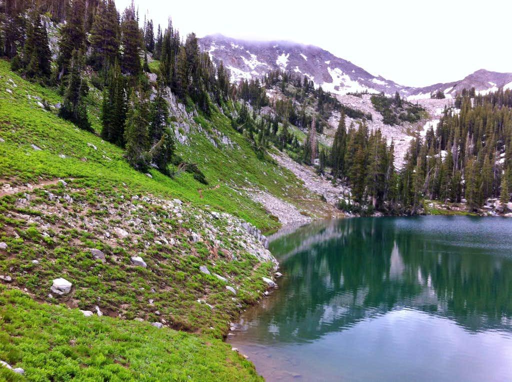 White Baldy over Red Pine Lake
