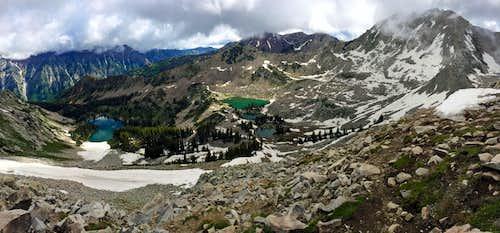 Upper Red Pine panorama
